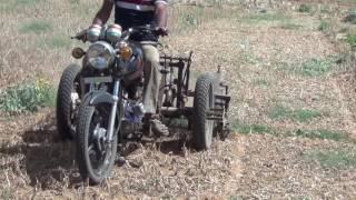 Deshi Tarika Aadhunik Kheti Onian Khodne ki machine प्याज व लहसून के पत्ते काटने की मशीन