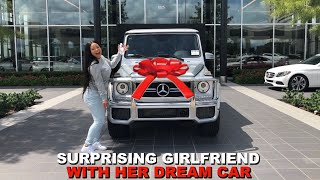 SURPRISING GIRLFRIEND WITH HER DREAM CAR!!! (Very Emotional)