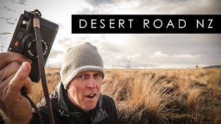 Photographing The Desert Road New Zealand