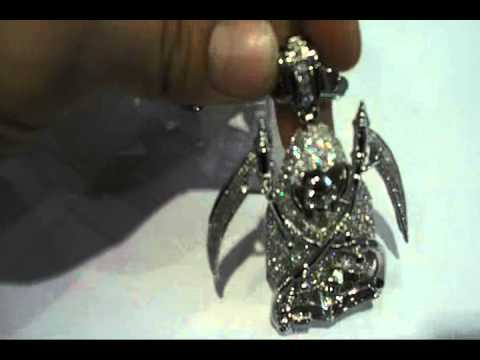 GRIM REAPER Micropave CZ pendant and chain CRAZY nice !! $125 shipped.