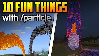 10 Fun Things To Do With /particle Command!! - Minecraft PE 1.8.0.8+