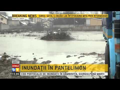 Inundatii in orasul Pantelimon, judetul Ilfov