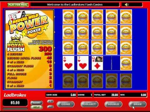 Deuces Wild Video Poker at Ladbrokes Casino