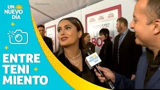 Salma Hayek nos habla de su vestido en los Golden Globes   Un Nuevo Día   Telemundo