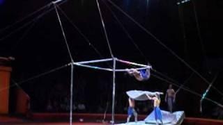 Цирк акробаты на турниках.VOB