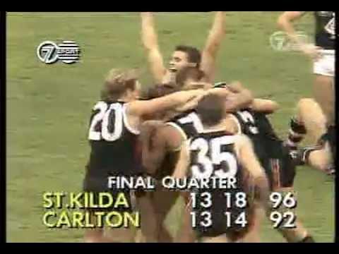 St Kilda v Carlton 1989 VFL Moorabbin final siren