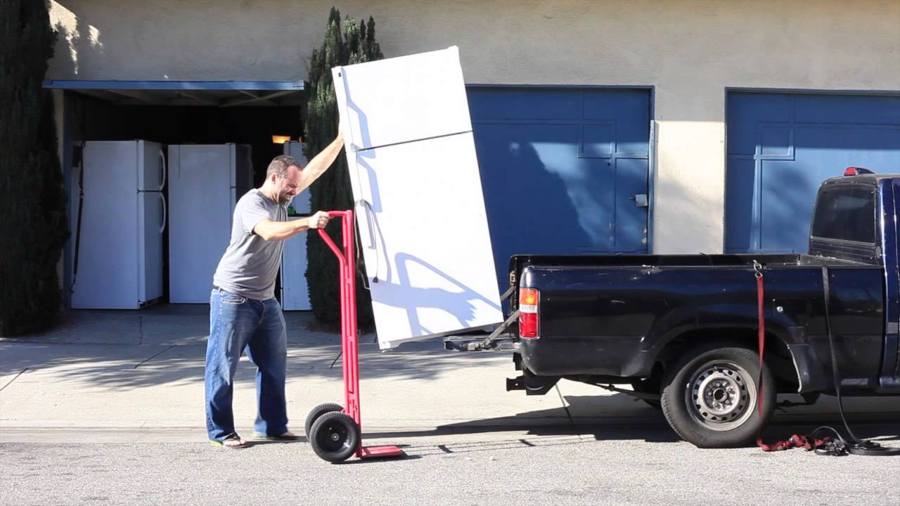 How To Transport A Fridge By Yourself Part 1 Youtube