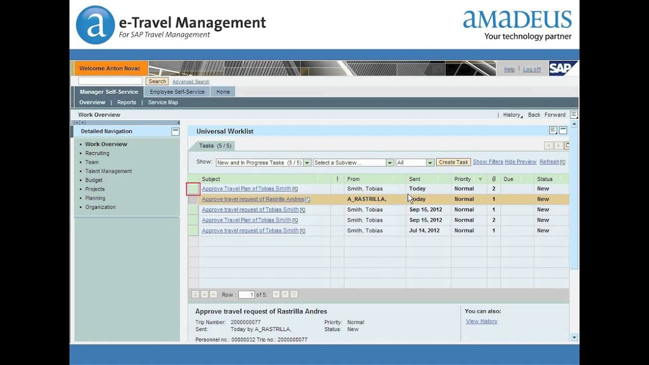 Amadeus E Travel Management Sap Youtube