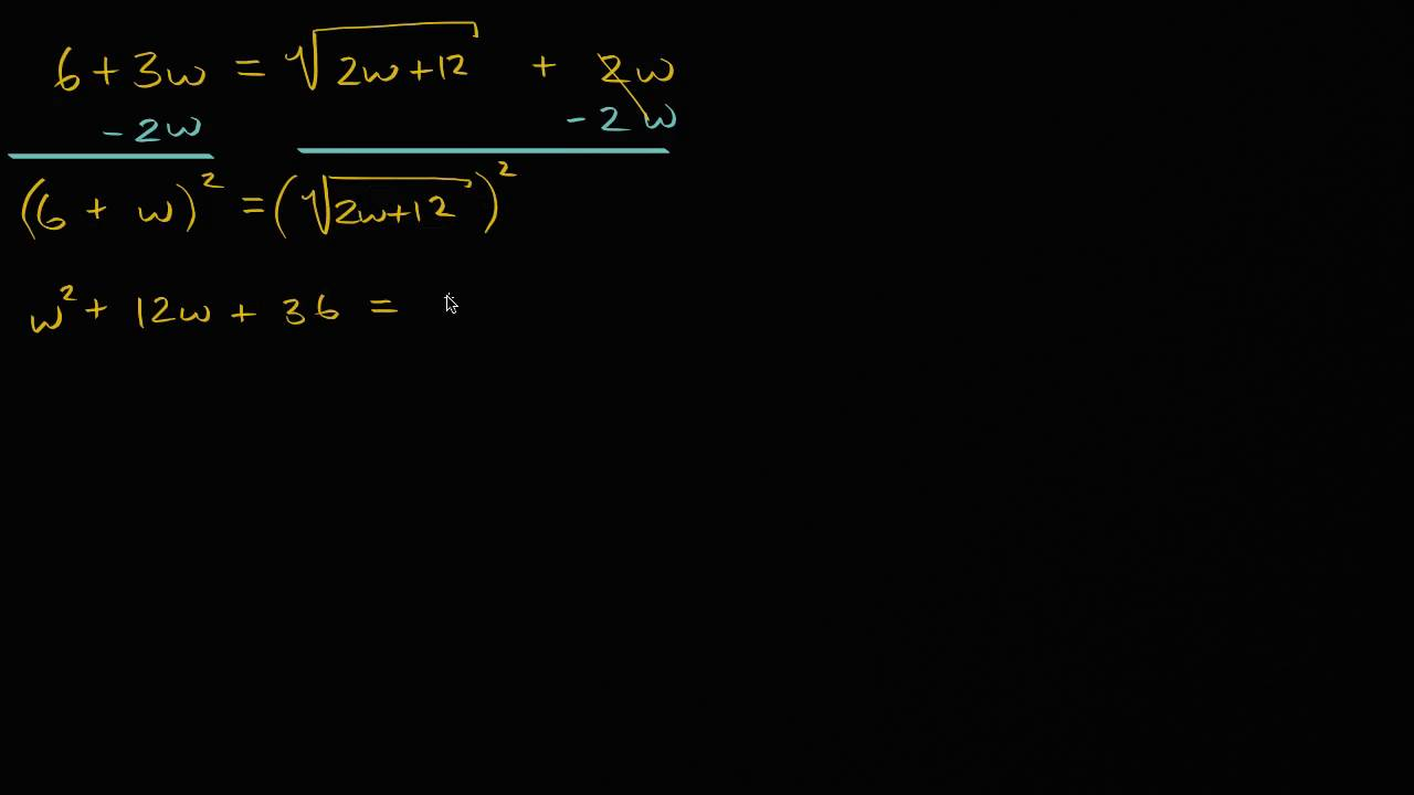 Solving square-root equations: two solutions (video) | Khan