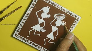Diy Warli Art Coaster | Saminspire