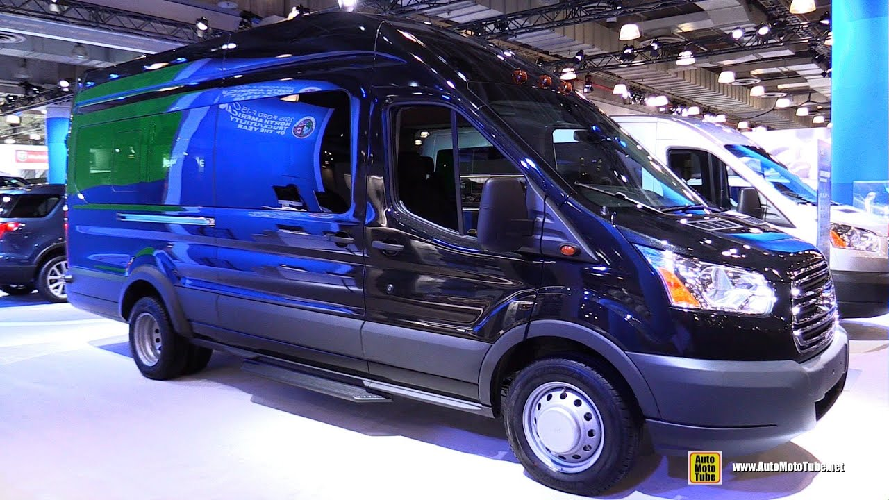 Ford Transit Wagon >> 2015 Ford Transit 350 HD XLT Passenger Van - Exterior and Interior Walkaround - 2015 NY Auto ...