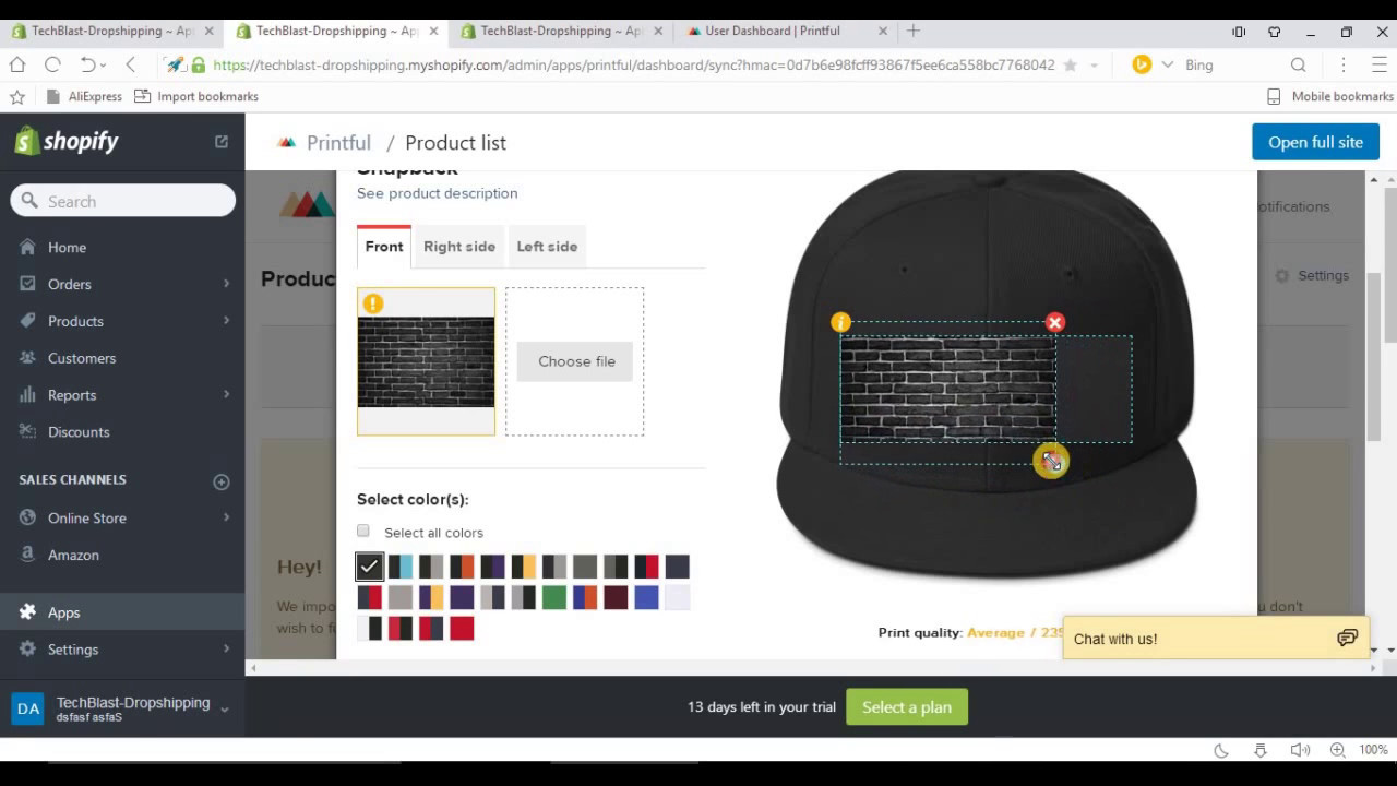 7693e6ef How to start T shirt Business in shopify using printful dropshipping ...