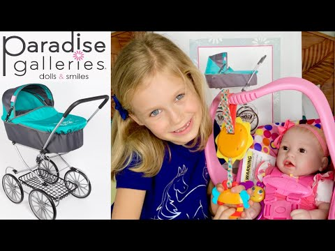 🎉New! Paradise Galleries Toy Stroller! 🎁Unboxing & Review With Skye And Baby Layla!🎀