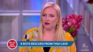 8 Boys Rescued From Cave In Thailand After Going Missing 17 Days Ago | The View