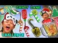 candy cane challenge w gross and weird flavors nasty smoothie mix funnel vision taste test fun