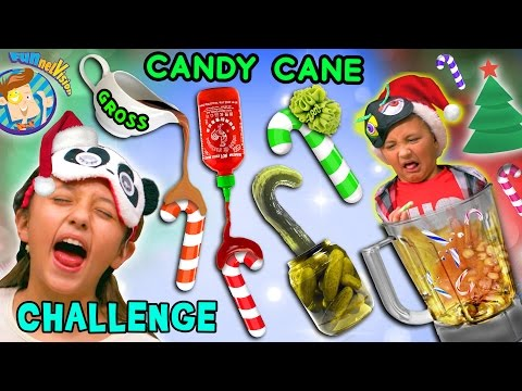 Thumbnail: CANDY CANE CHALLENGE w/ Gross and Weird Flavors + Nasty Smoothie Mix (FUNnel Vision Taste Test Fun)