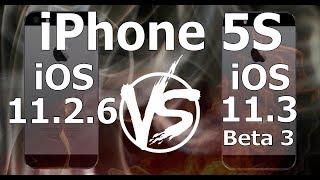 iPhone 5S : iOS 11.3 Beta 3 vs iOS 11.2.6 Speed Test Build 15E5189f