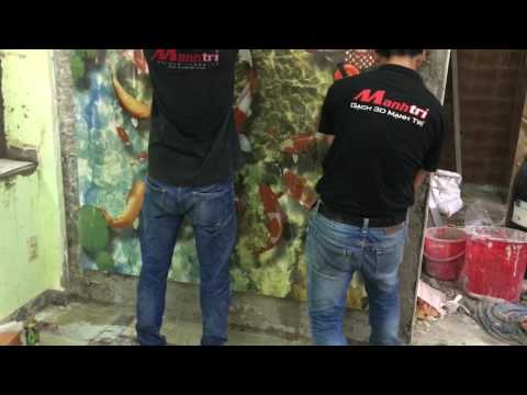 Tranh gạch 3D ốp tường giá rẻ ở tại Hcm