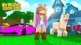 ALL MY WISHES CAME TRUE! | Minecraft Little Kelly