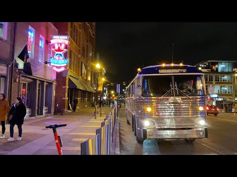 A Test Drive Of The Vintage Bus To Downtown Nashville Tn