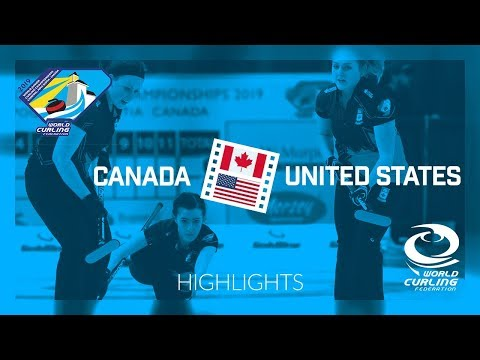 HIGHLIGHTS: Canada v United States - Women - Round-robin - World Junior Curling Championships 2019