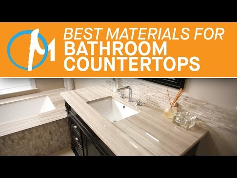 The Best Materials Bathroom Countertops | Marble.com