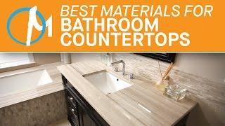 The Best Materials Bathroom Countertops | Marble.com