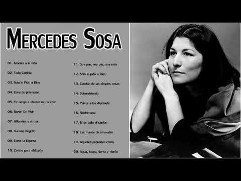Mercedes S.o.s.a Sus Grandes Exitos Enganchados - 20 Mejores Canciones