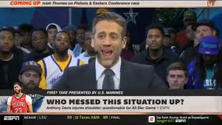 Stephen A Smith GRIEVANCES AD injures shoulder Who messed this situation up  First Take