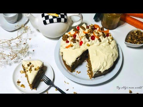 كيكة-الجزر-بالجوز-هشة-و-أكتر-من-لذيذة-carrot-cake-avec-une-crème-cheese-caramel-beurre-salé