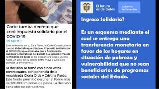Mario Cardona Más Familias-Impuesto Solidario NO Va Mas, Corte Tumbo Decreto Creado Por Pandemia