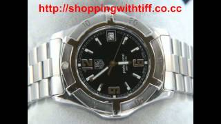tag heuer 2000 exclusive wn1110 black dial new avi