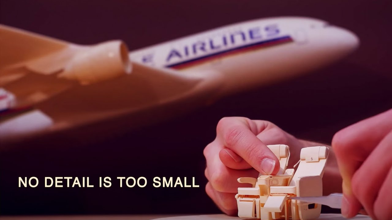 Papercraft At Singapore Airlines, No Detail Is Too Small | Singapore Airlines