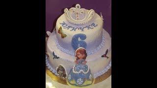 видео Торты Принцесса София   Заказать торт с принцессой Софией с доставкой, срочно.