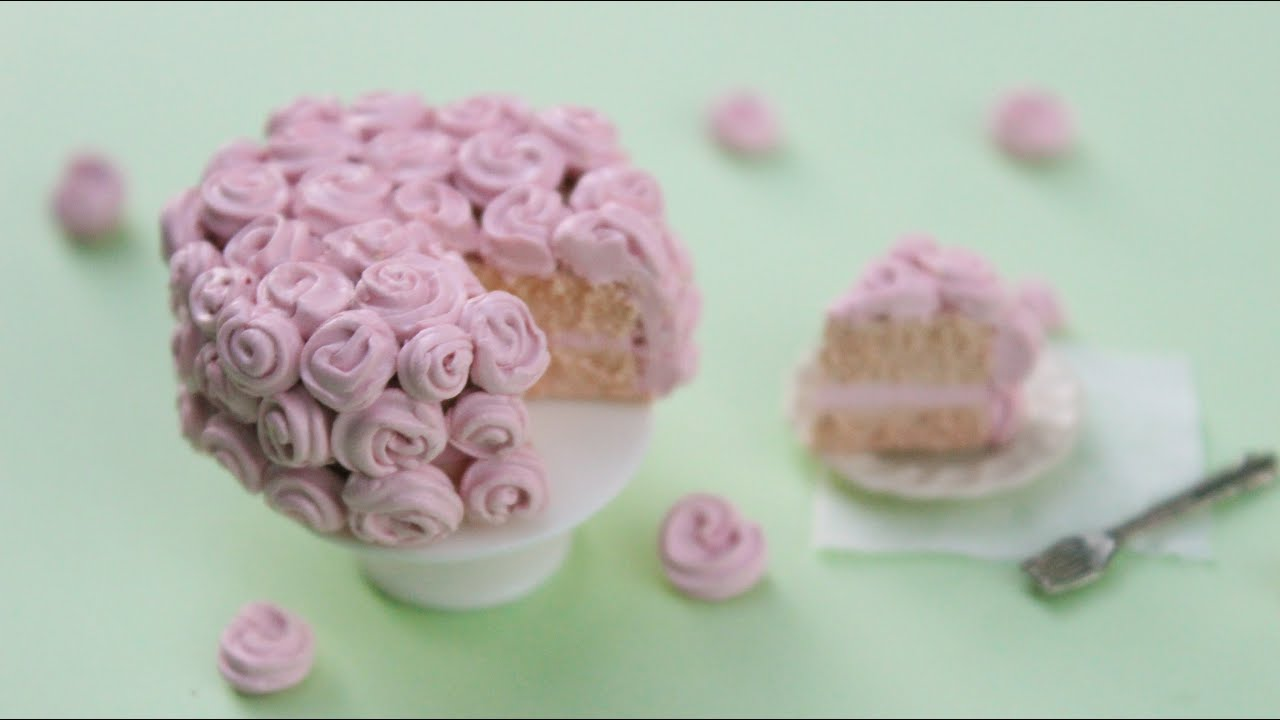 How To Make A Polymer Clay Rose Cake!