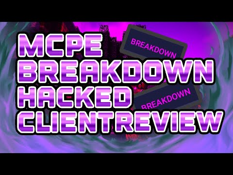 MCPE 1.2.6 BREAKDOWN B3 HACKED CLIENT REVIEW (HILARIOUS INFINITE REACH)