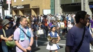 博多どんたく2016 福岡県小学校合同バンド(七隈・高取・舞松原・箱崎) P5040263