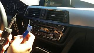 How to Remove Radio / CD Player from BMW 428 2014 for Repair.