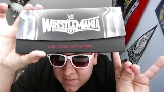 WWE WrestleMania Travel Package Unboxing!!