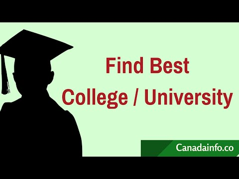 How To Find Best College / Program / Course Or A University To Study In Canada