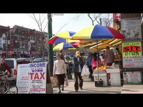 Toronto Chinatown in Ontario,Canada: Population and Business in the urban area