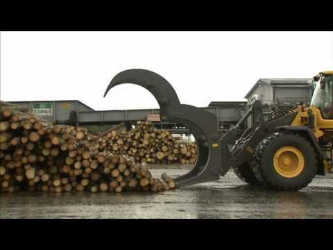 9. Volvo Hjullastare Körinstruktion: Timmerhantering