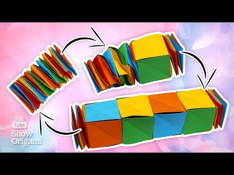 Snake cube | How to make a toy from paper | Toy Antistress do it yourself