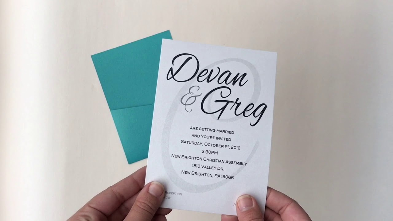 how to assemble 2 sided panel pocket invitations youtube
