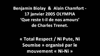 "Benjamin Biolay & Alain Chamfort ""Que reste t-il de nos amours"" de Charles Trenet ( @L'Olympia 2005)"