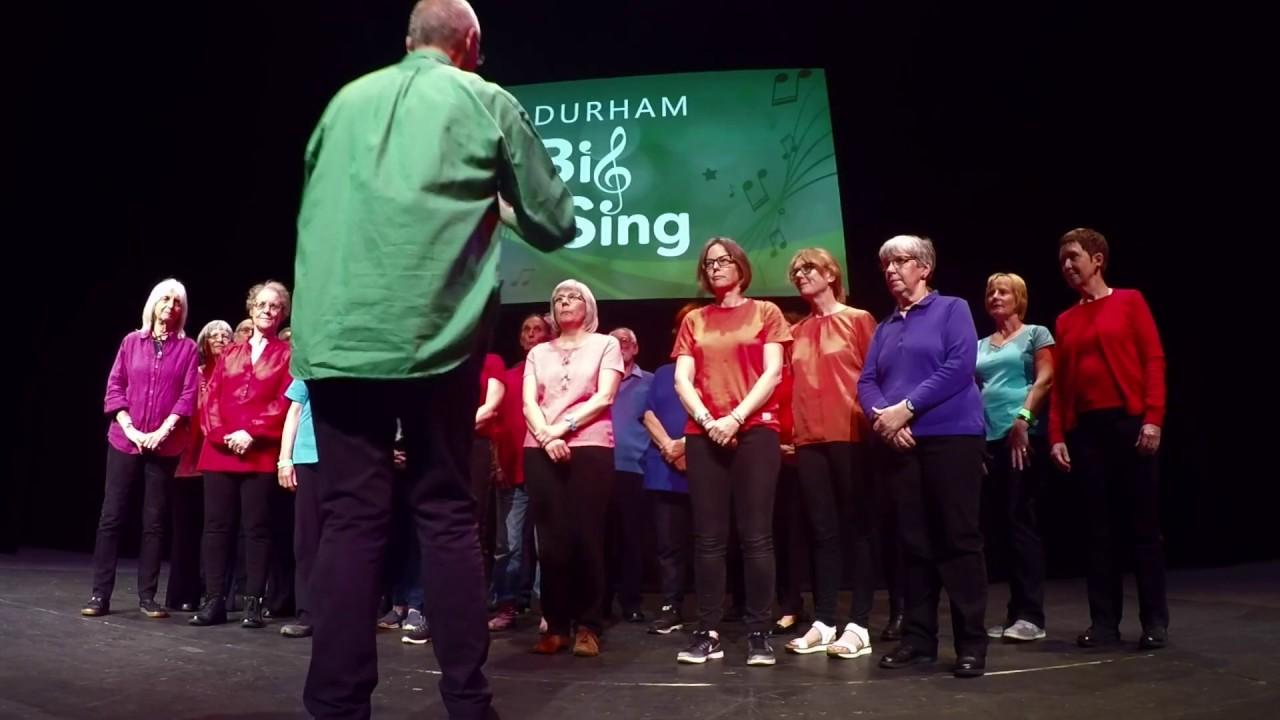 Durham Scratch Choir performing at Durham Big Sing 2019