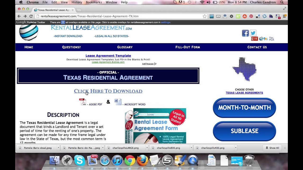 Texas Residential Lease Agreement Youtube