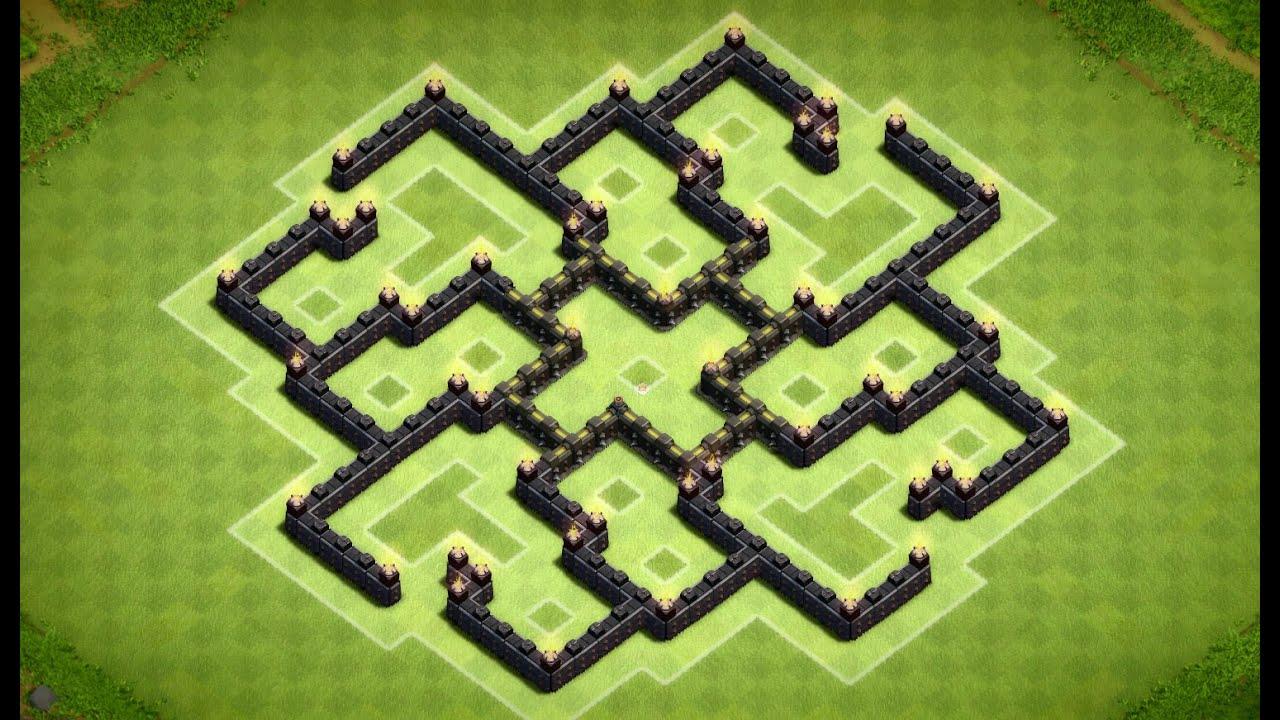 Clash of clans epic town hall 7 dark elixir farming base cres