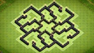 Clash of Clans - Epic Town Hall 7 Dark Elixir Farming Base (Cres) Speed Build