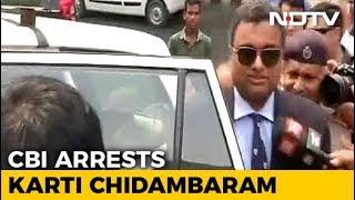 P Chidambaram's Son Karti Arrested By CBI In Money Laundering Case